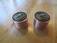 Q-parts ring-o Metall knopf Potiknopf knob gold mit schwarzem kreuz cross