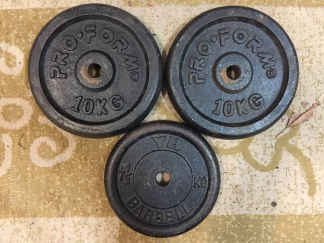 2 x 10Kg & 1 x 7.5Kg Weight Plates Original Size | Gym & Fitness | Gumtree  Australia Parramatta Area - Winston Hills | 1201771432