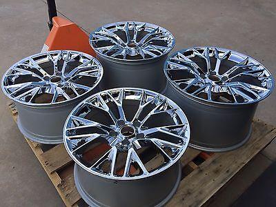 GM OEM 2016 Z06 ZO6 Chrome Corvette Wheels for 2006-2013 C6 Z06 ZR1 Grand Sport  for sale  Lubbock