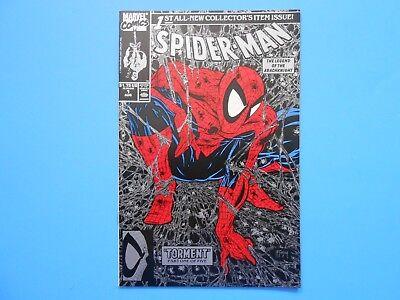 1990 MARVEL COMICS SPIDER-MAN #1 TODD MCFARLANE TORMENT SILVER BLACK COVER