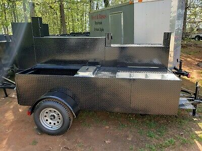 Steam Trays Table W Sink Bbq Smoker 48 Grill Trailer Food Truck Mobile Catering