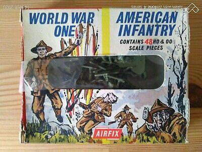 Niños Soldados de Plástico Airfix H0/00 WW1 American Infantería