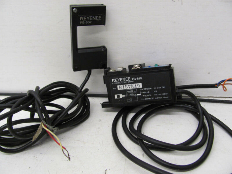 KEYENCE PG-610 W/ PG-602 PHOTO ELECTRIC SENSOR HEAD USED