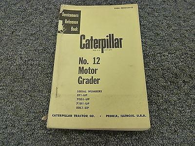 Caterpillar Cat 12 Motor Road Grader Shop Service Repair Manual Book