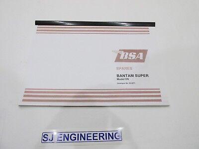 BSA BANTAM SUPER D5 SPARE PARTS CATALOGUE 00-5071  SJ106