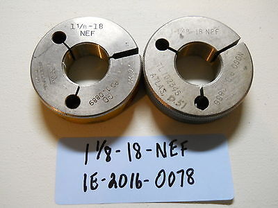 1-18-18-nef Thread Ring Gage Machinist Inspection Tooling Lathe