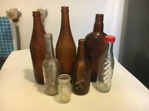 mixed vintage bottles $3 for the lot
