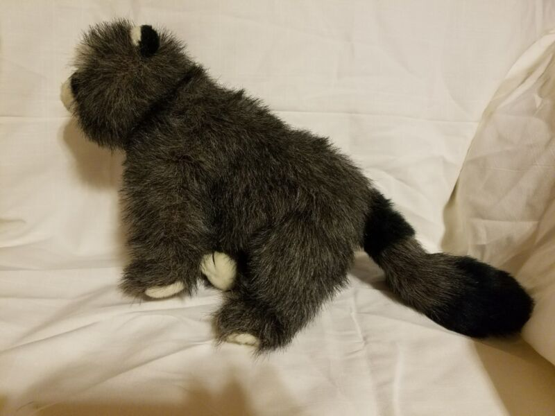 1989 TY GREY RACCOON  PLUSH MADE IN KOREA STUFFED PLUSH 16""