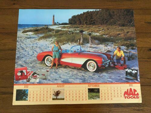 1992 MAC Tools Calendar Poster 1957 Corvette Sexy Girl Chevrolet Chevy