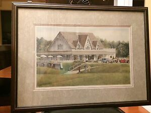 Framed golf print