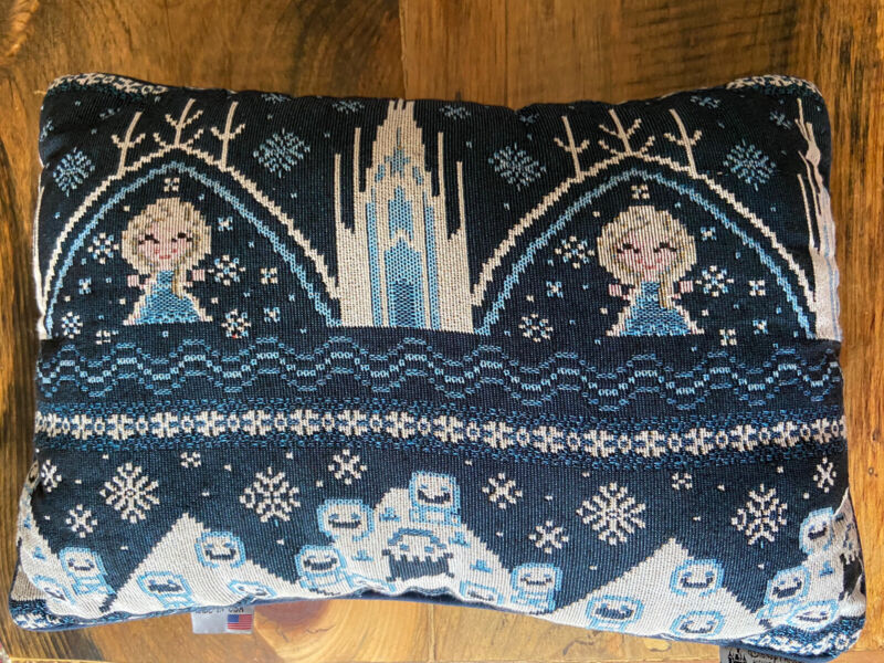 Disney Parks Frozen Double Sided Tapestry Throw Pillow Elsa Anna Olaf Sven WDW