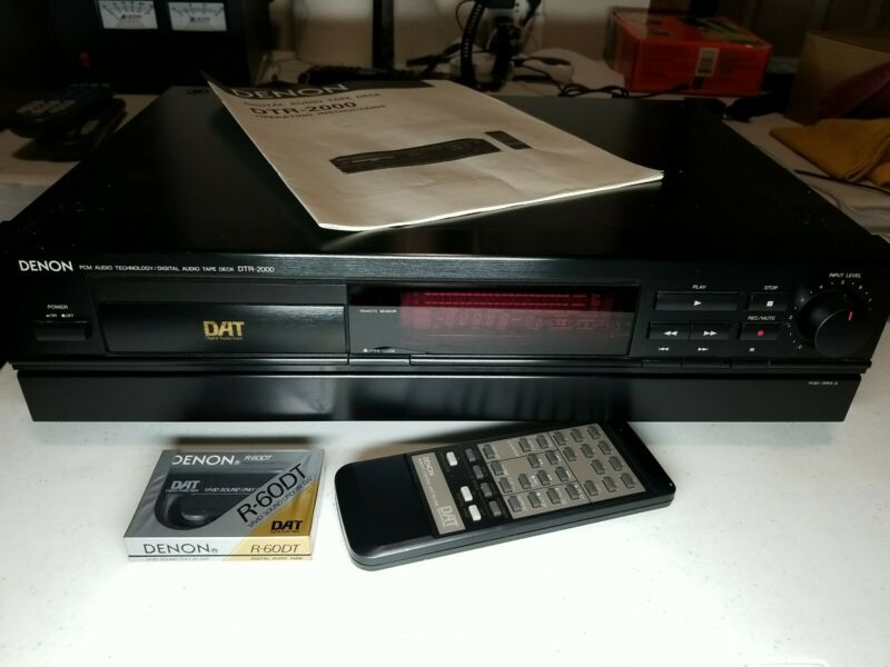 Denon DTR-2000 Digital Audio Tape Deck Audio Recorder With Remote
