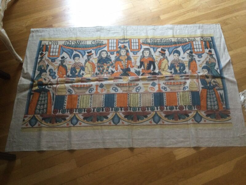 Large Vintage Norwegian Tapestry Textile Wall Johannes Nilsson