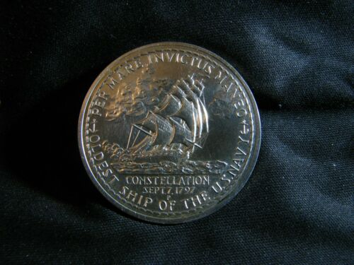 1972 USS CONSTELLATION WAR SHIP U.S. MINT SILVER MEDAL  --COMBINED SHIPPING!