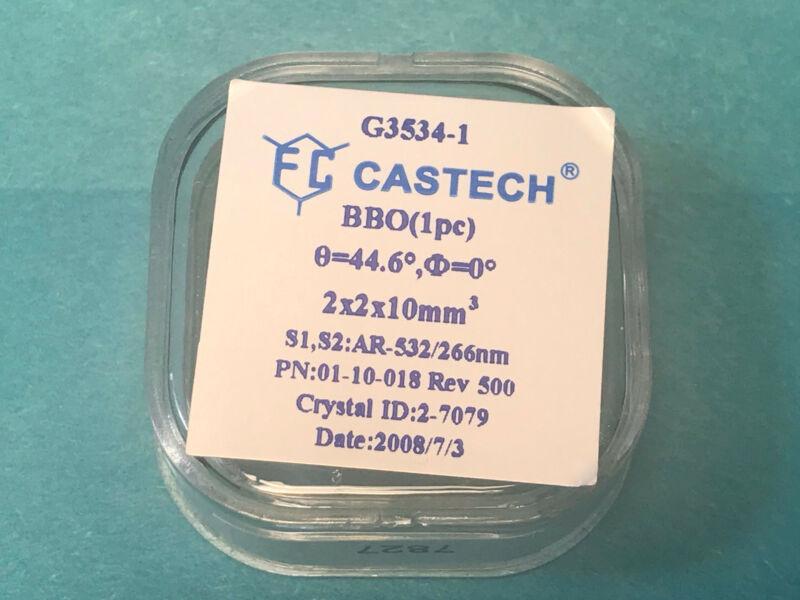 New Castech Laser BBO Crystal for FHG/SHG 1064/532 - 266nm UV 2x2x10mm DBAR