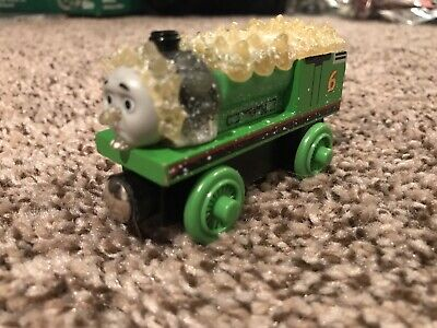 THOMAS THE TRAIN WOODEN RAILWAY JACK FROST FROZEN PERCY TRAIN ENGINE CAR