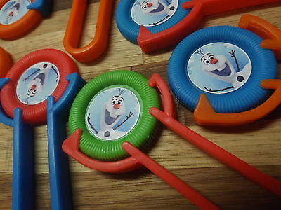 12 Frozen OLAF Character SHooters~ themed birthday party favor treat, kids toy - Frozen Party Favor