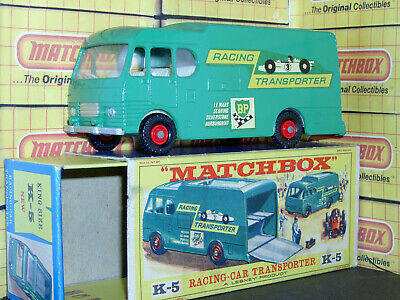 Matchbox Lesney Race Car Transporter BP Team K-5-B King VNM Original drawer box