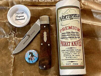 GREAT EASTERN CUTLERY NORTHFIELD USA ARIZONA IRONWOOD #74 MUSTANG KNIFE NIT NR