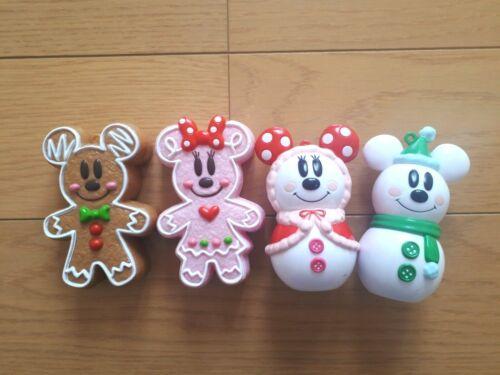 TOKYO Disney Gingerbread/Snowman Mickey&Minnie Christmas ornament 4set  F/S