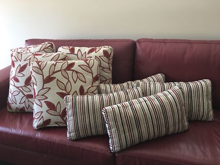 Scatter cushions $80 for 8 cushions. Warwick fabric