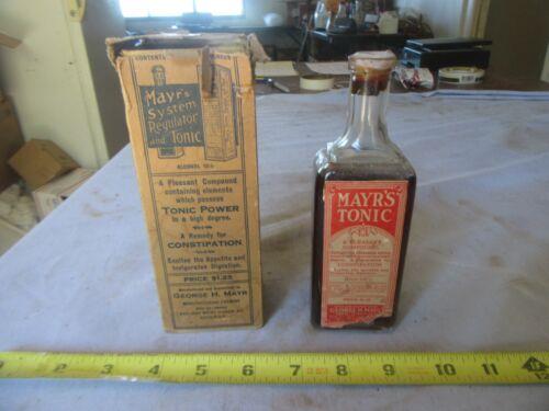Vintage Medicinal Glass Bottle Mayr
