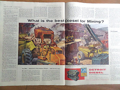 1956 Gm General Motors Ad Detroit Diesel Wat Is The Best Diesel For Mining