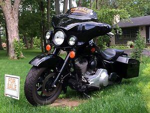 2005 HARLEY FLHT STANDARD CUSTOM BLACK