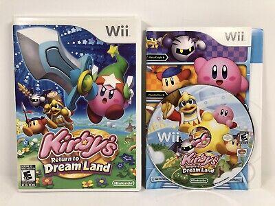 Kirby's Return to Dream Land (Nintendo Wii, 2011) Very Good Condition CIB