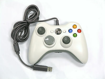 Old Skool Wired Xbox 360   Pc Dual Analog Rumble Controller   White