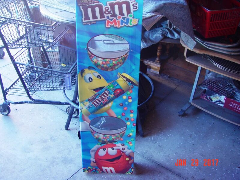 M&M CANDY DISPLAY, WALL MOUNT, TWO TRAYS
