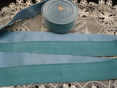 100/% Rayon Powder Blue French 4 38 inches wide Vintage Satin Faille Ribbon Price is per Yard