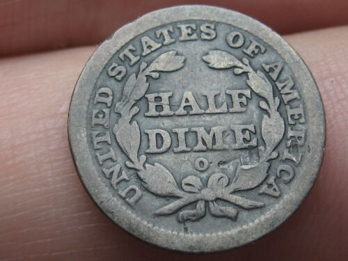 1840 O Seated Liberty Half Dime- With Drapery- Good Details