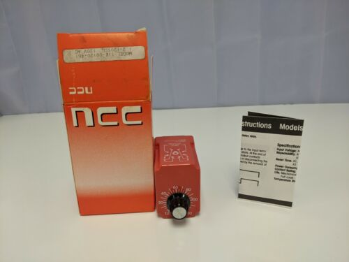 NCC T1K-00120-461 1.2-120 Sec 120V Solid State Timer Time Delay Relay