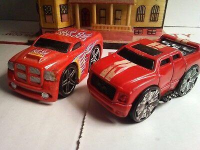 Hot wheels dodge ram truck,red high wheeler.custom 2000's.Red Quadra-sound 2pc for sale  Saint Paul