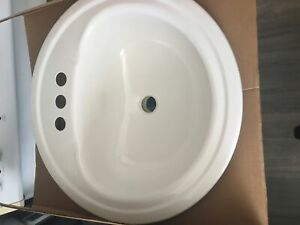 American standard/crane 19x19 round drop in bathroom sink