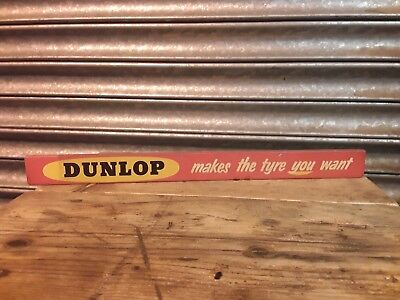 Old Vintage Original Dunlop Tyres Tin Sign (bicycle,oil,pump,enamel,globe,can) for sale  Shipping to South Africa