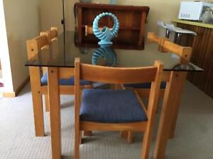 7 piece Solid Pine Dining Room Suite