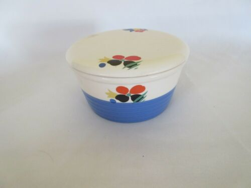 Vintage CIRCUS Pattern CASSEROLE DISH with Lid  Universal Potteries, Cambridge