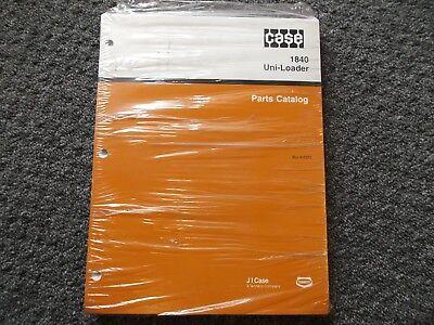 Case 1840 Uni-loader Skid Steer Factory Parts Catalog Manual Bur 8-5372