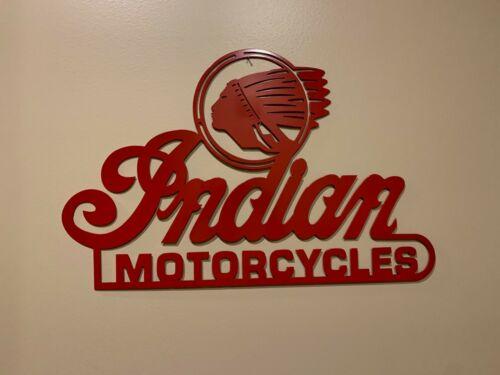 X Large Indian Motorcycles Metal Wall Art