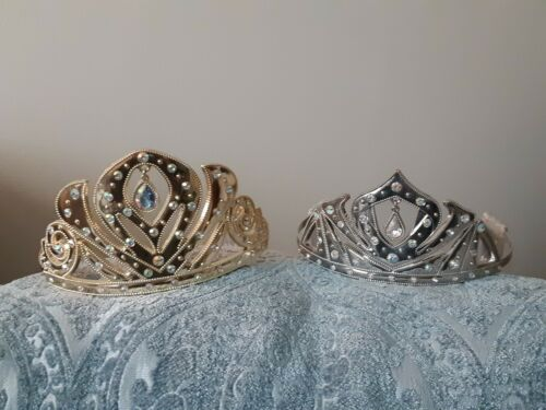 DISNEY STORE ORIGINAL FROZEN ELSA and ANNA TIARA SET CROWNS COSTUME DRESS-UP