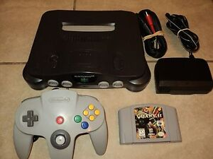 Nintendo 64 Smoke Grey Console Bundle (NTSC) w/ Controller and Game