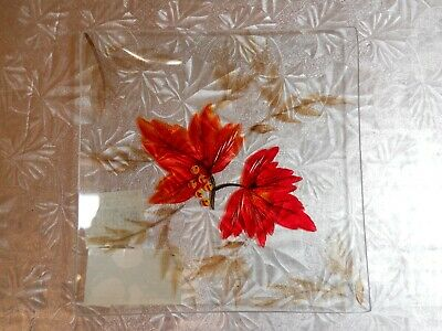 "NWT Yankee Candle Autumn Leaves Candle Tray 6"" Square"