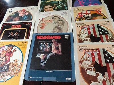 Vintage Videodisc lot of 11 misc Ragtime Bad News Bears Death wish videodiscs