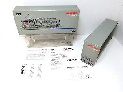 Silbergrauer Karton zur BR E 91 der DRG/DB,Märklin HO,3628,alle Papiere,HB