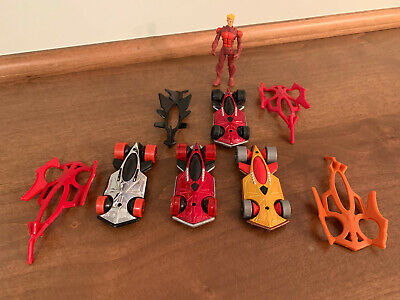 Hot Wheels 1:64 Battle Force 5 Lot - 32 Cars + Figures + Poster + Accessories