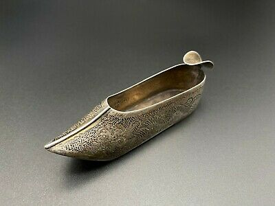 Vintage Export Silver Dragon Hammer Shoe Sterling Silver Ashtray