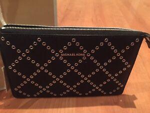 Brand new Michael Kors studded leather wristlet wallet GIft!