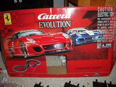 Used, 1/32 Carrera Evolution FERRARI 599XX Race Set NO CARS USE OTHER SLOT CAR USED 5X for sale  Buffalo